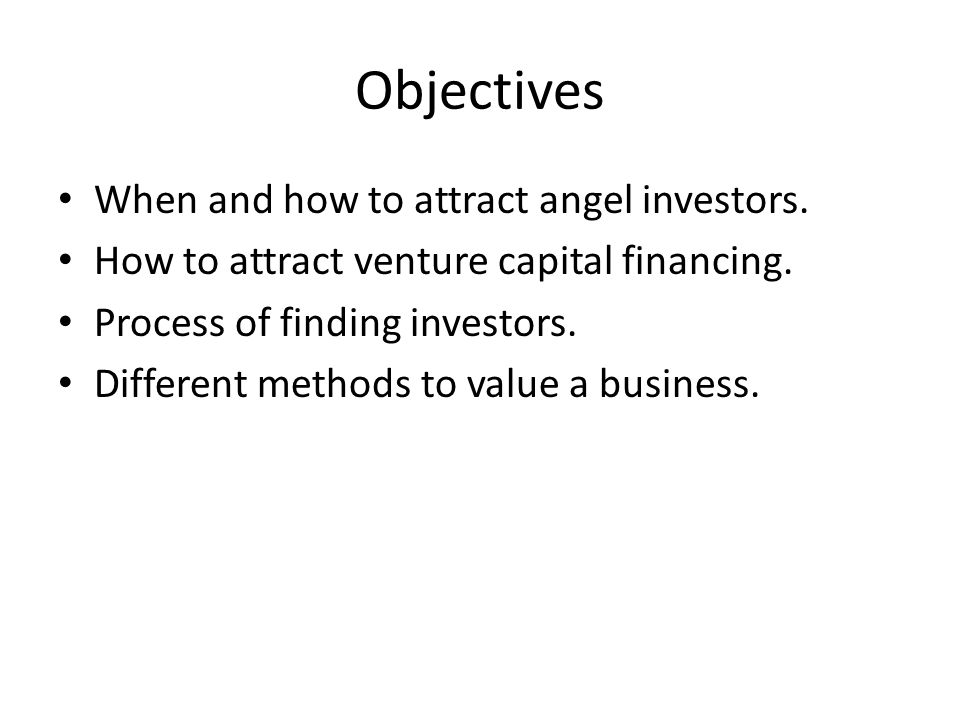 finance and angel investor As opposed to loans and other forms of credit financing, angel investor funding is  a much cheaper form of seed capital angel funding does not require monthly.