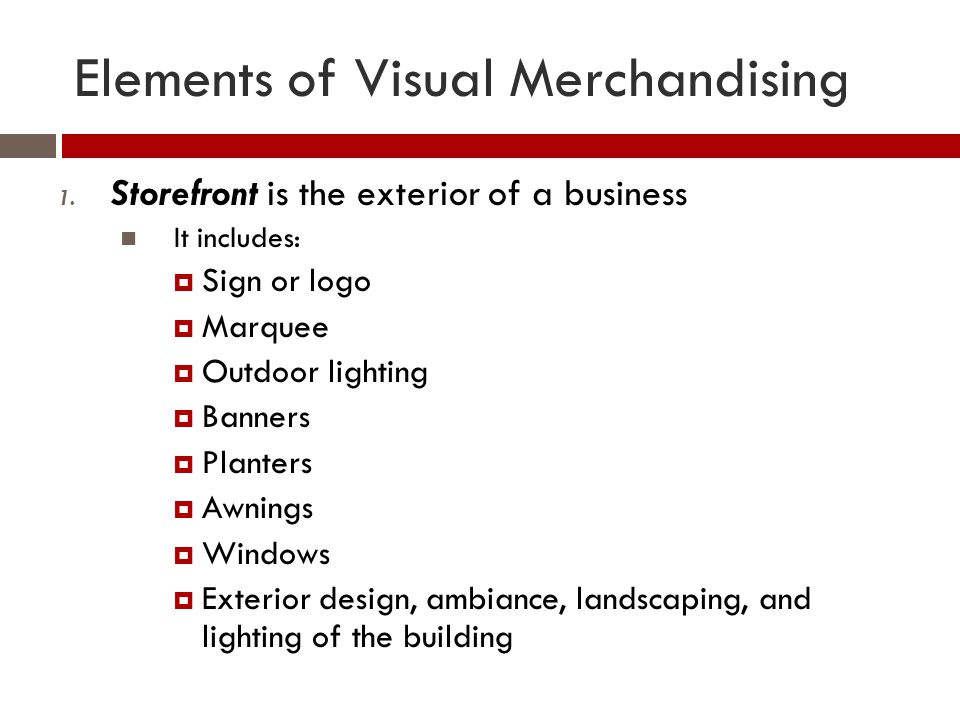 Visual Elements Definition : Visual merchandising display ppt download