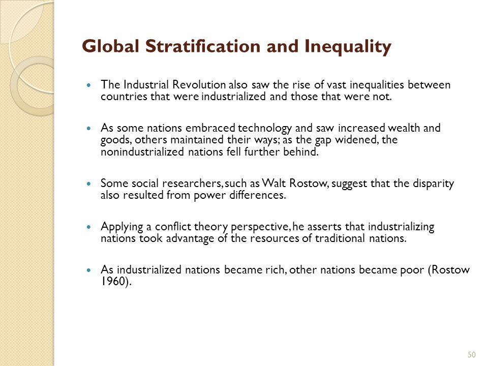 global stratification theories The theory of colonialism focuses on how the nations global stratification strains in the global system• all stratification systems have.