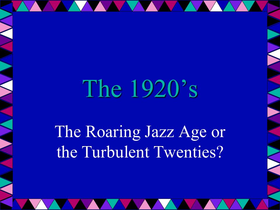 should the 1920s really be described as the roaring twenties or an age of primitivism and conservati A summary of the roaring twenties and the jazz age: 1920–1929 in history sparknotes's the great depression (1920–1940) learn exactly what happened in this chapter, scene, or section of the great depression (1920–1940) and what it means.