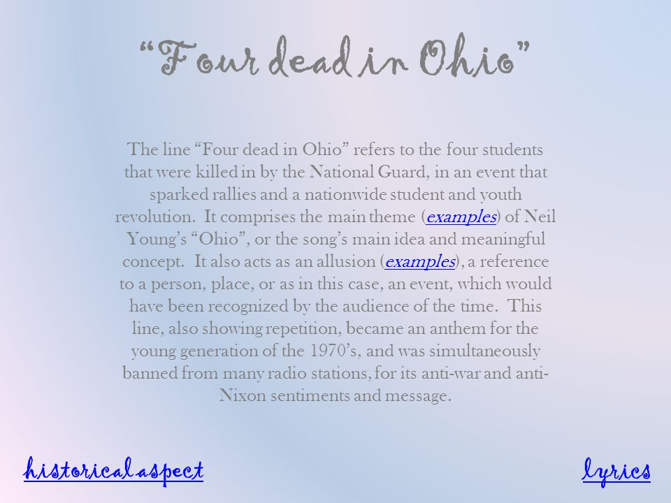 Ohio By Neil Young. - ppt video online download