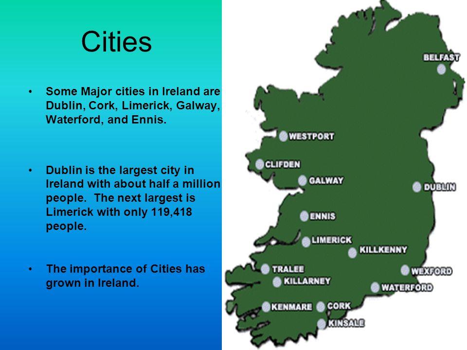 Ireland Matt A Ppt Download - Ireland major cities map