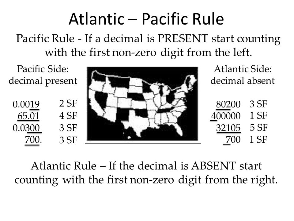 Atlantic – Pacific Rule
