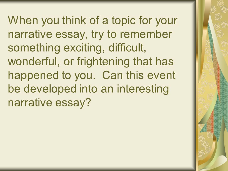 frightening event essay The film is not just a factual report about a particular event or person like the famed works that are its inspiration, it is an essay and like any good essay, it begins with one question, and, over the course of its 90 minutes, asks a set of new ones similar to its literary counterpart, the essay-film escapes clear.