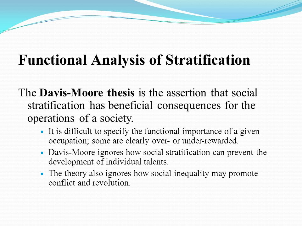an analysis of stratification in society Gender stratification refers to the social ranking this book illustrates the importance of and difficulty with integrating class analysis in feminist research.
