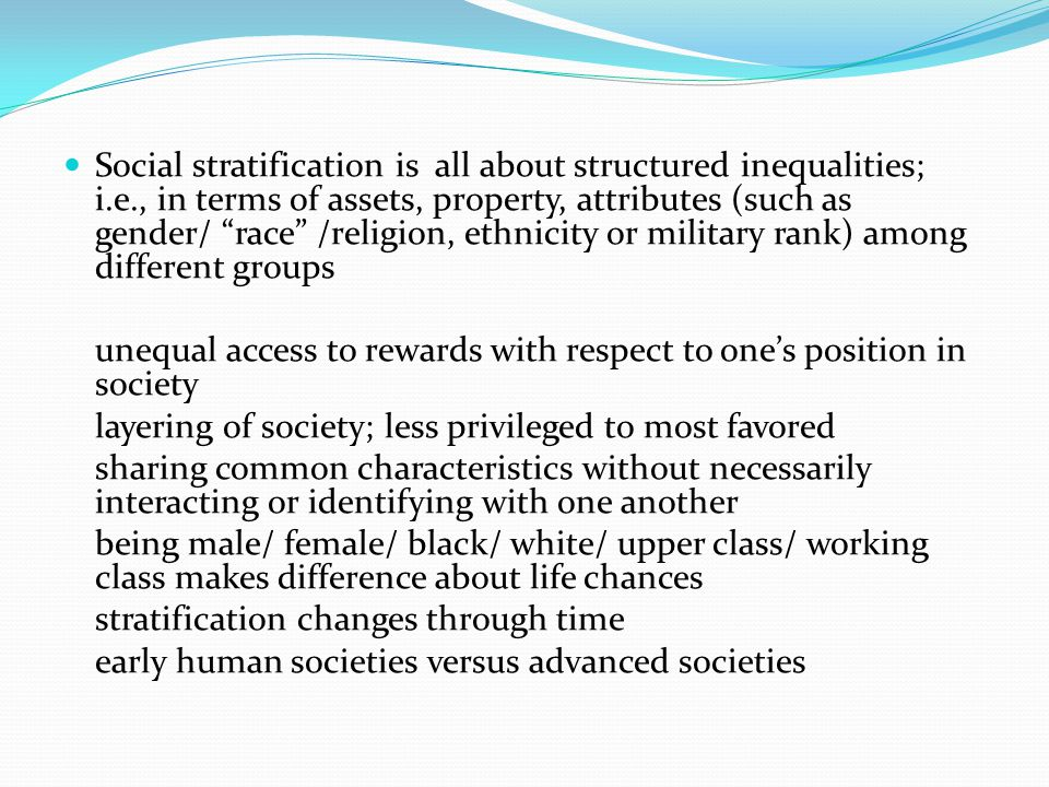 structures of racial and gender inequality A number of scholars have looked at the varied dimensions of this thesis — growing inequality, changes in family structure, and the connection between the two here is a look at some of their findings on inequality:  race, and gender inequalities''.