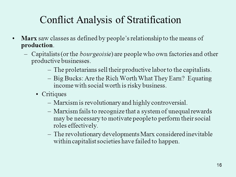 An analysis of stratification in society