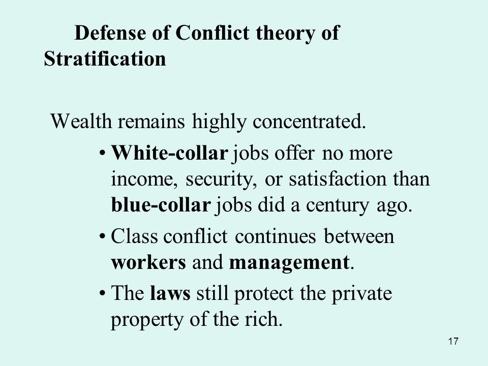 social conflict theory and white collar crime White-collar crime and the justice department: the  white-collar crime is especially problematic for  alist variants of conflict theory,.