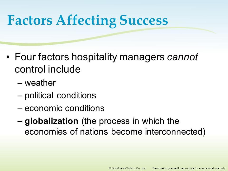 economic factors affecting tourism industry