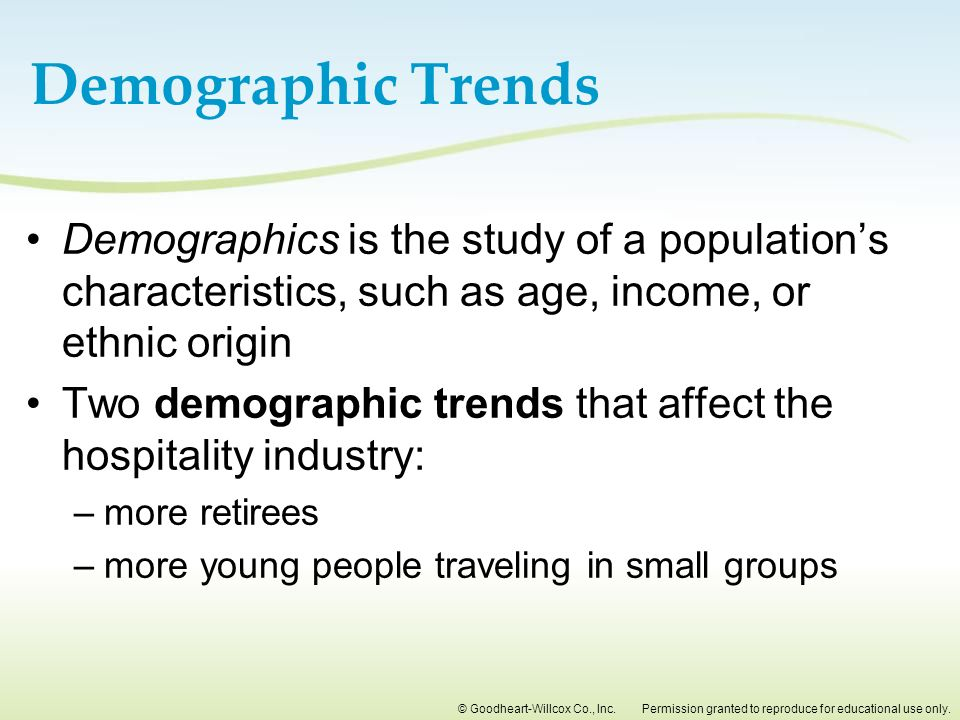 demographics affects housing characteristics Demographics affects housing characteristics demographic is a study of human population which based on few aspects such as population density, population composition and lifestyle choices are the characteristics of a population for which a mean/median/mode would be appropriate.