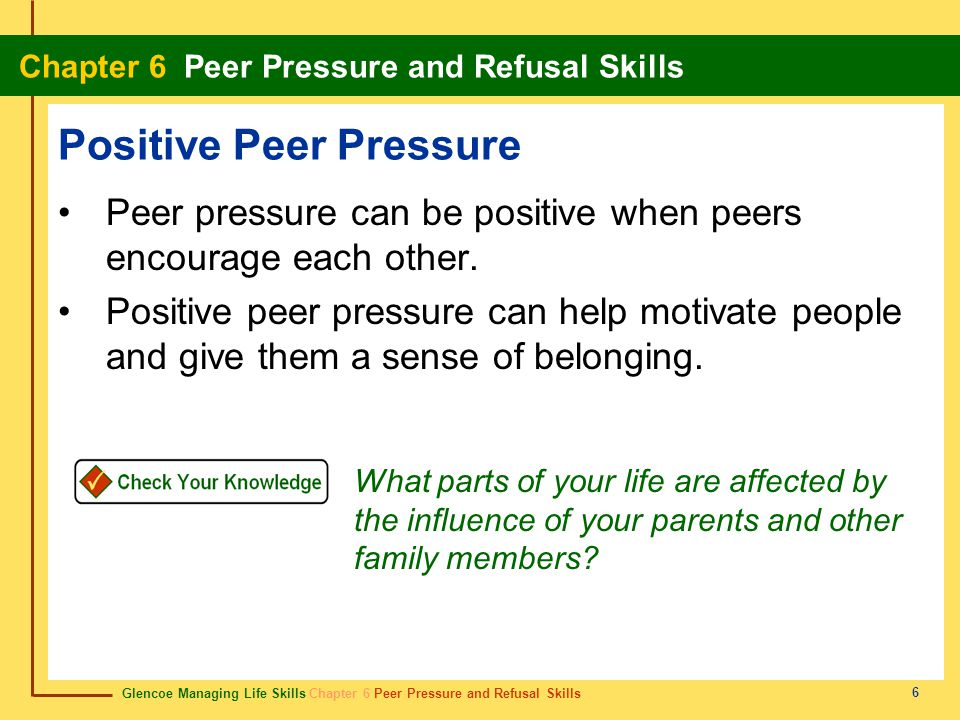 How Positive Peer Pressure Works