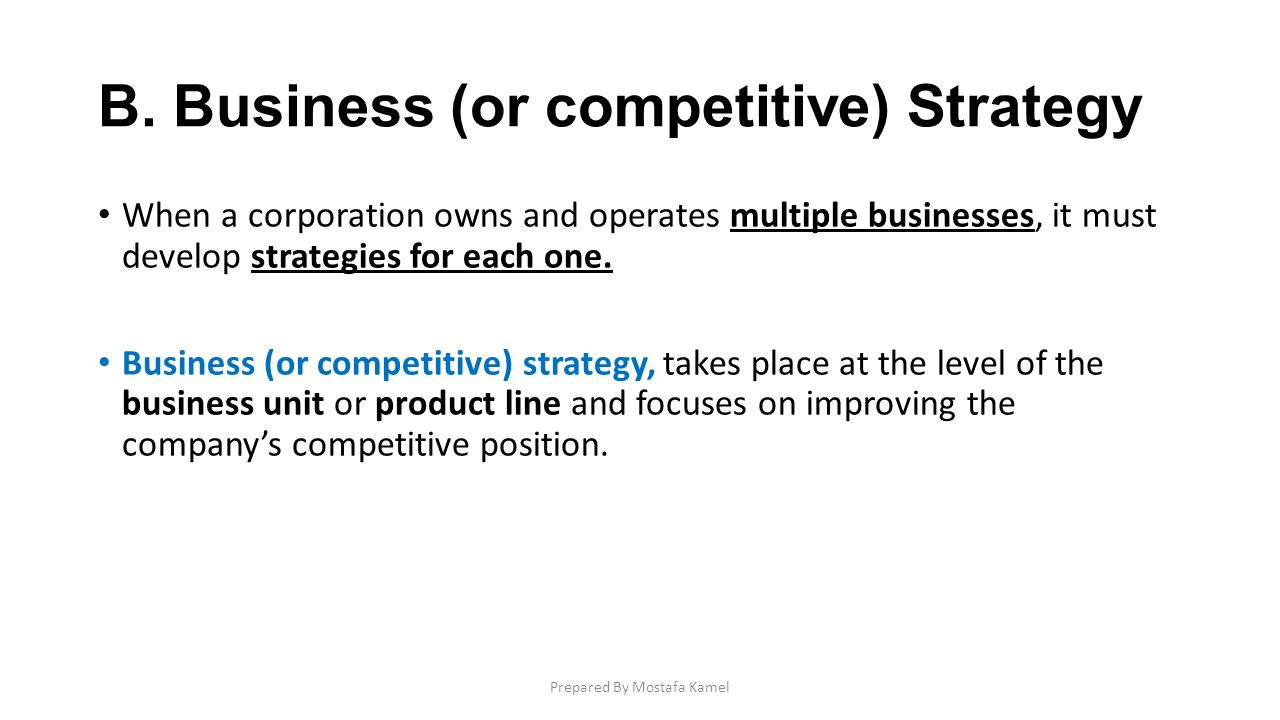 A related diversification strategy involves building the company around businesses