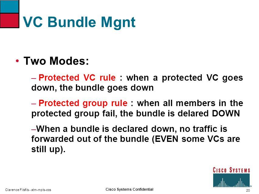 VC Bundle Mgnt Two Modes: