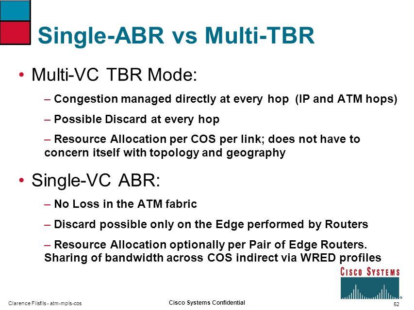 Single-ABR vs Multi-TBR