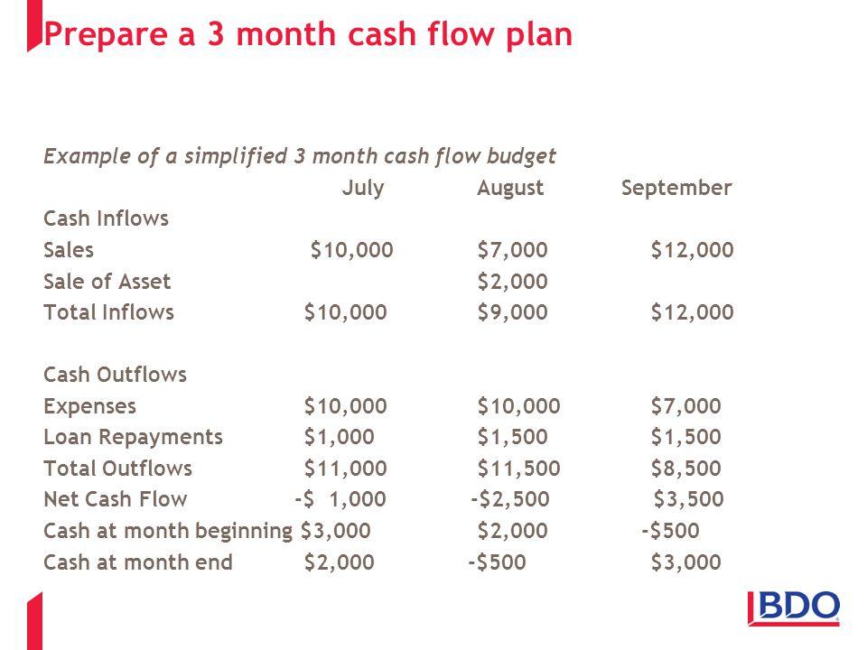cash flow budgets