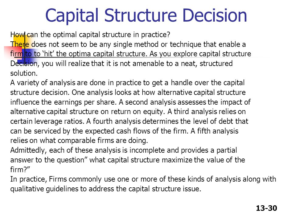 impact of capital structure and dividend Capital structure and firm performance: evidence from malaysian conclusions the study investigates the impact of capital structure choice on firm.