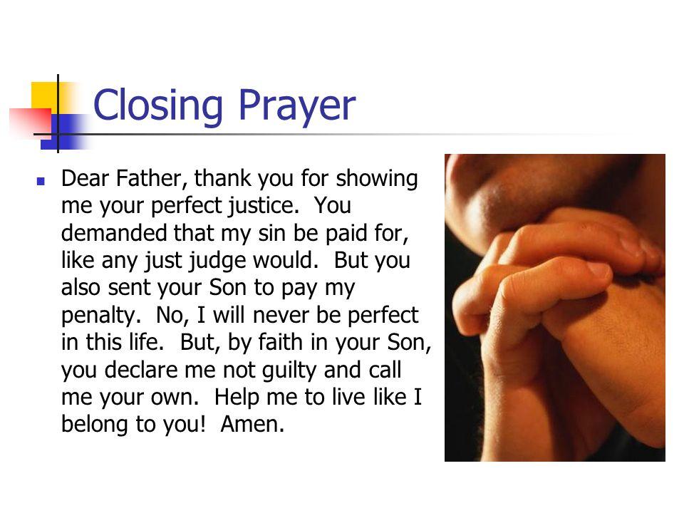Bible study closing prayer