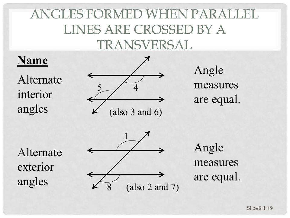 Section 9 1 points lines planes and angles ppt video - Kuta software exterior angle theorem ...