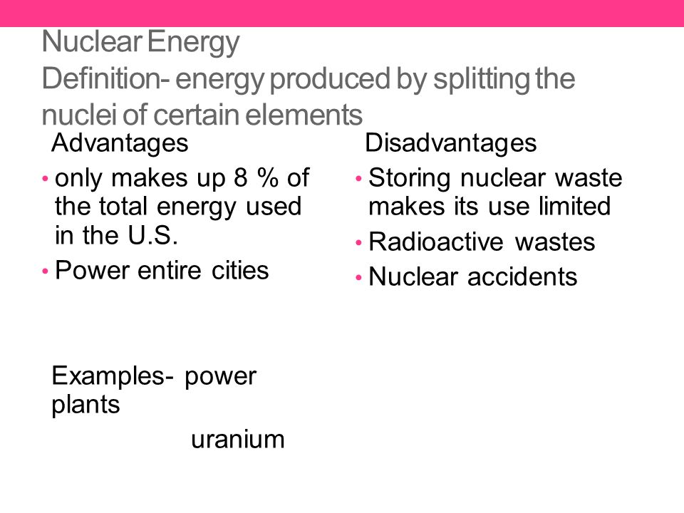 the description of uranium and its use in nuclear energy production Actually, it's not that simple - we can use fast breeder reactors to convert uranium into other nuclear fuels whilst also getting the energy from it there are two types of breeder reactors - ones that make weapons-grade plutonium and ones that are for energy production.