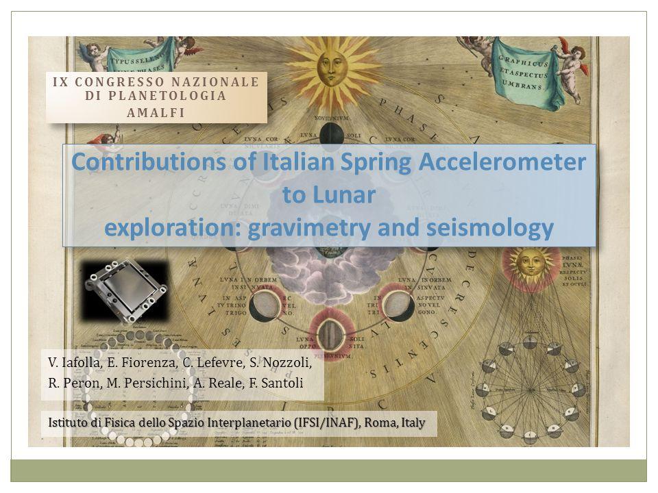 IX Congresso Nazionale di Planetologia Amalfi