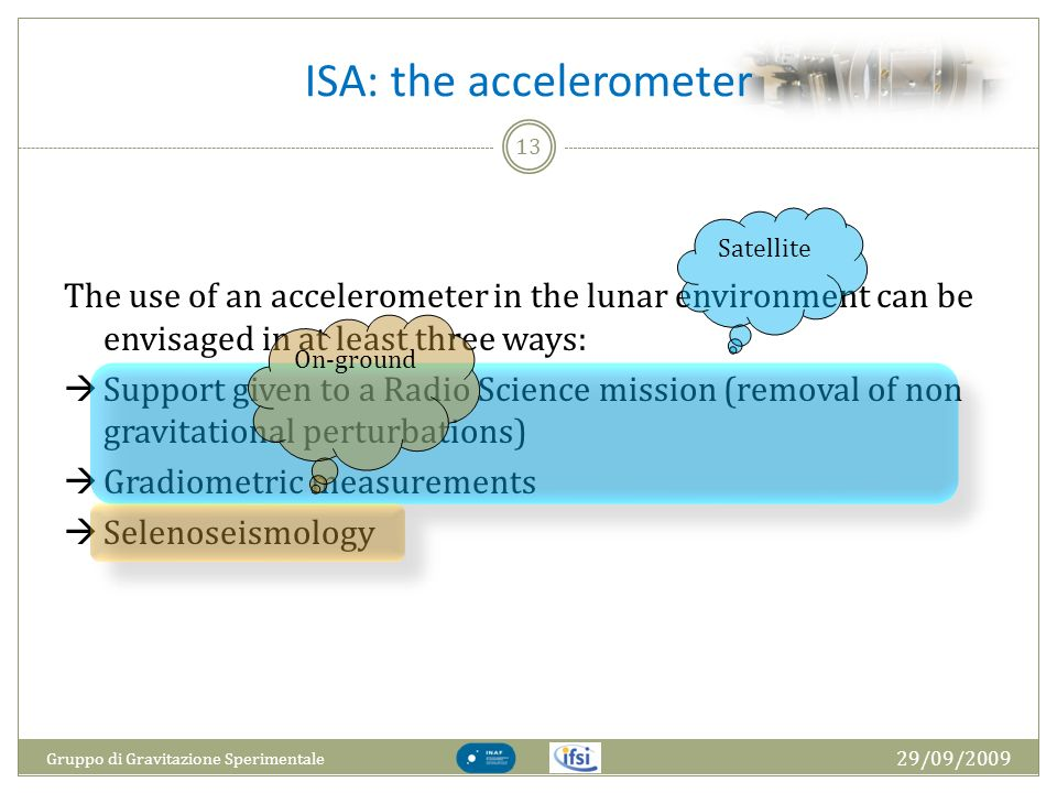 ISA: the accelerometer