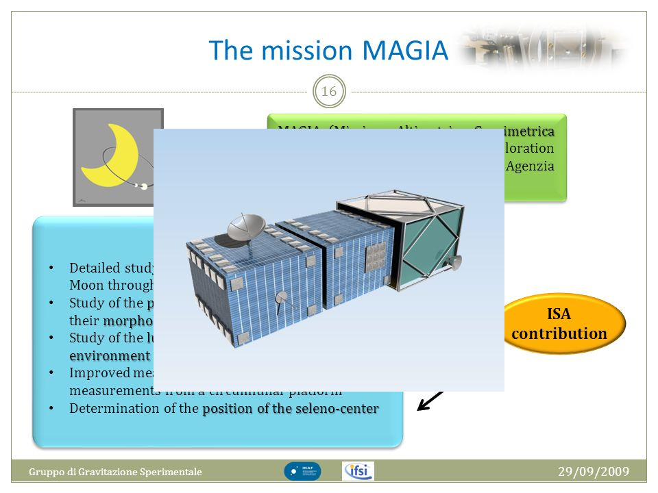 The mission MAGIA ISA contribution