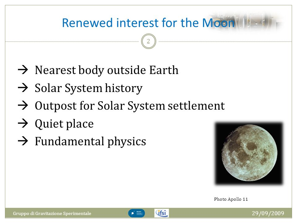 Renewed interest for the Moon