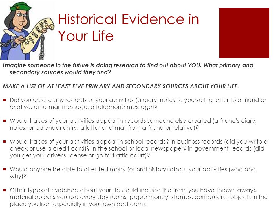 history essay using primary sources Using primary sources primary sources are the raw materials of history — original documents and objects which were created at the time under study.