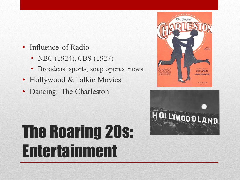 "the roaring 20s new technology entertainment Welcome to the roaring 20s research guide new technology [airplanes the ""new"" entertainment 1 _____ 2."