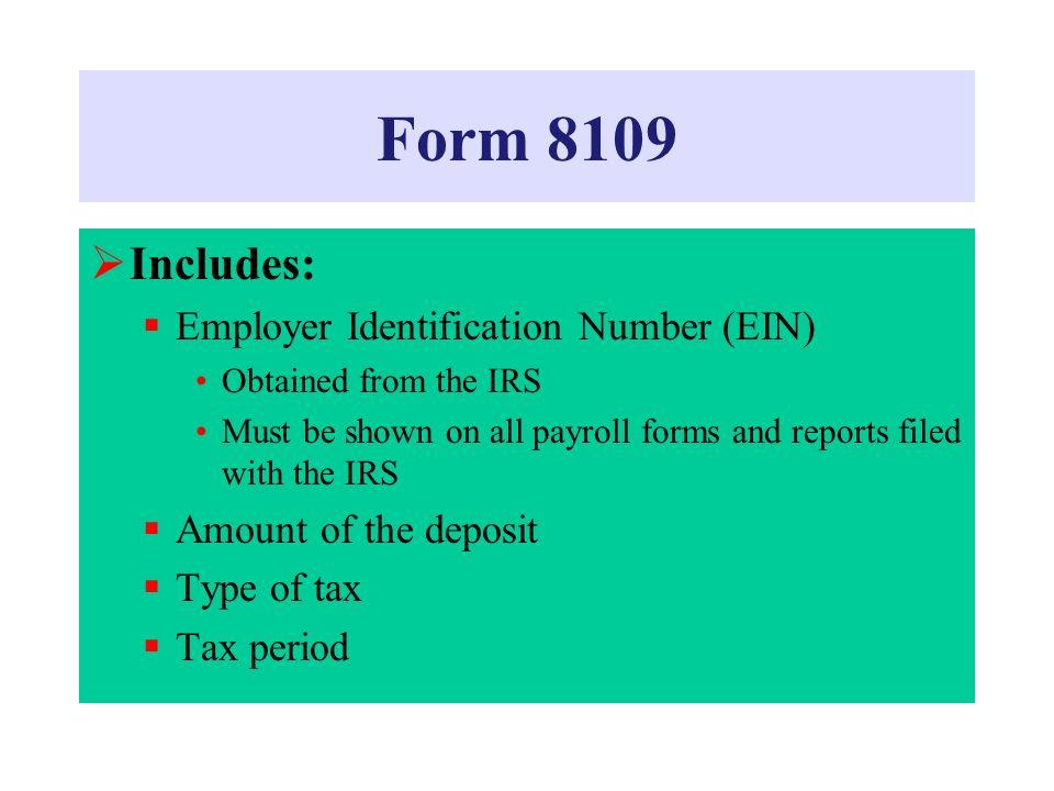 Irs Form 8109 Heartpulsar