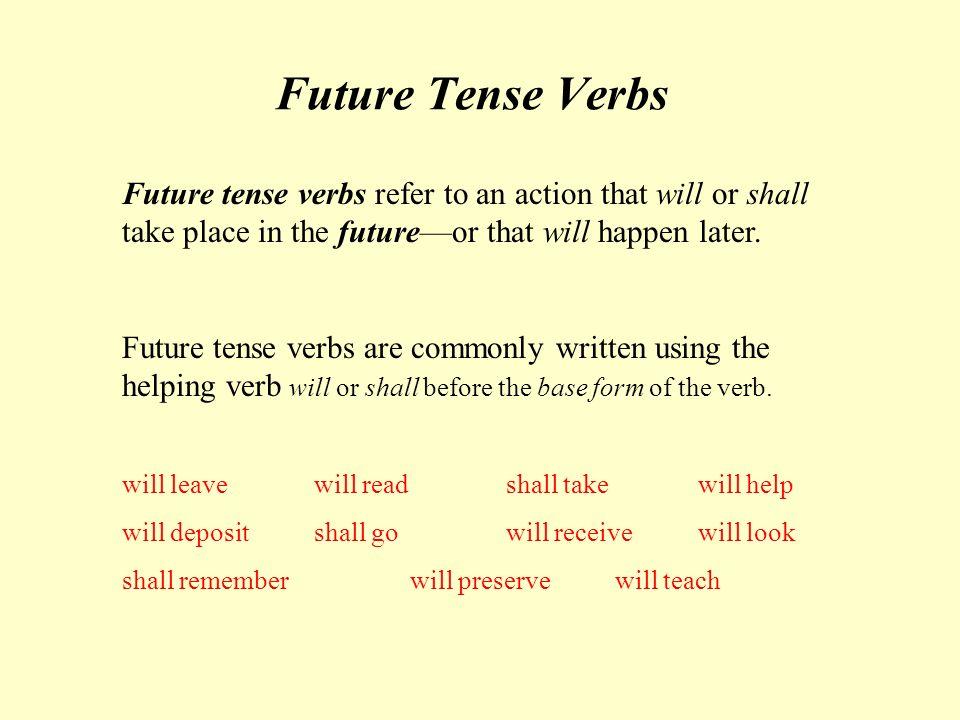 future tenses правила таблица