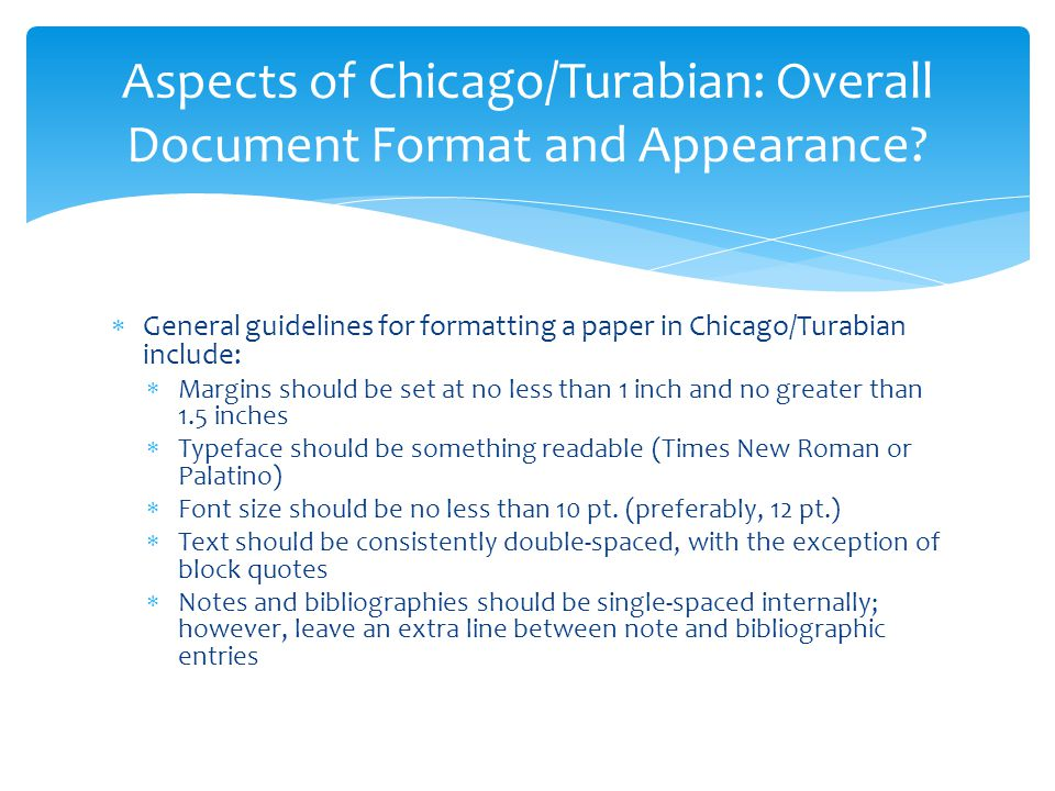 essays in chicago style format