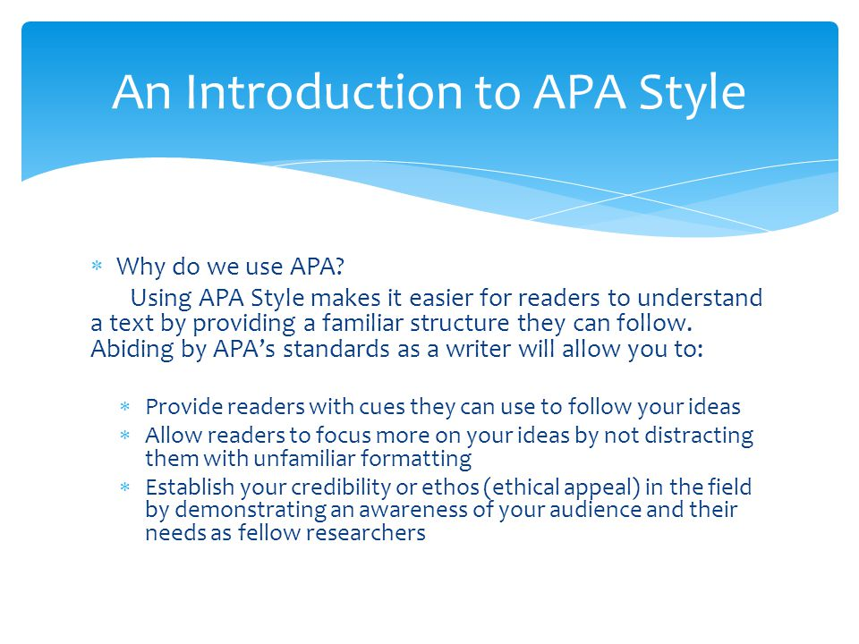 Can you use we in an apa essay