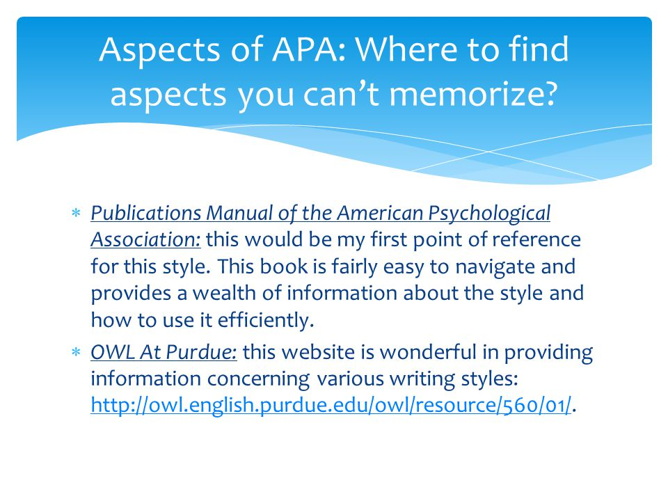 american psychological association style Find tutorials, the apa style blog  the rules of apa style ®, detailed in the publication manual of the american psychological association.