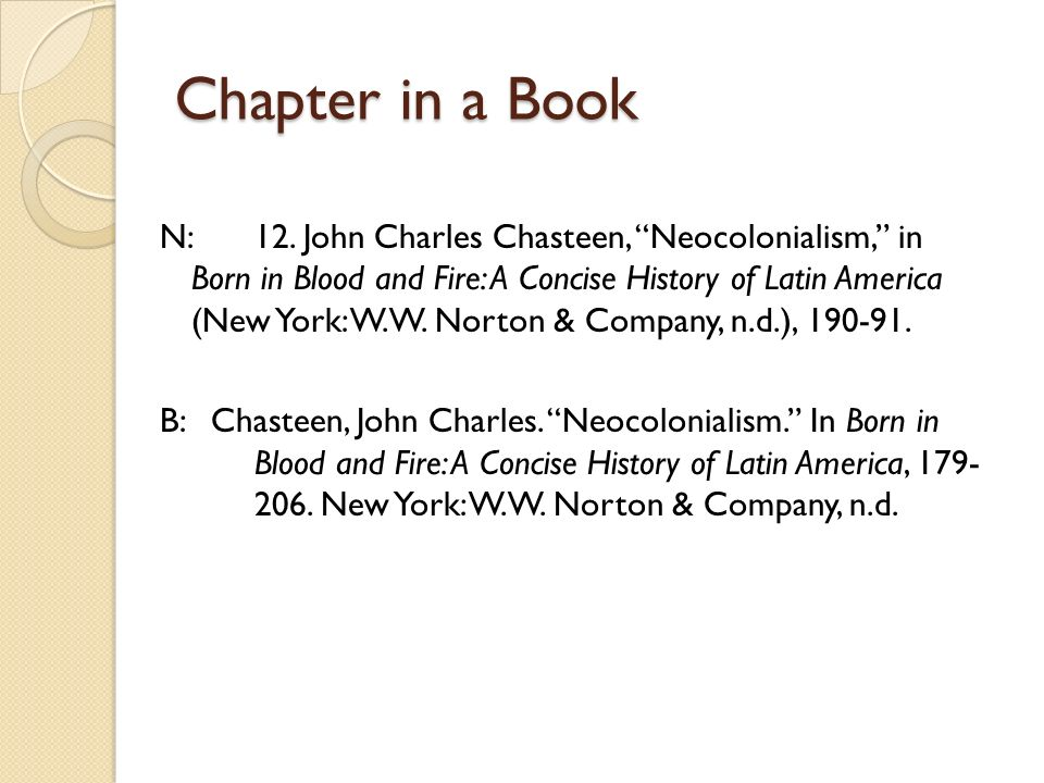 neocolonialism in latin america as defined by john chasteen Latin america: a history latin and neocolonialism however, a history of latin america is also a history of its people: v chasteen, john charles.