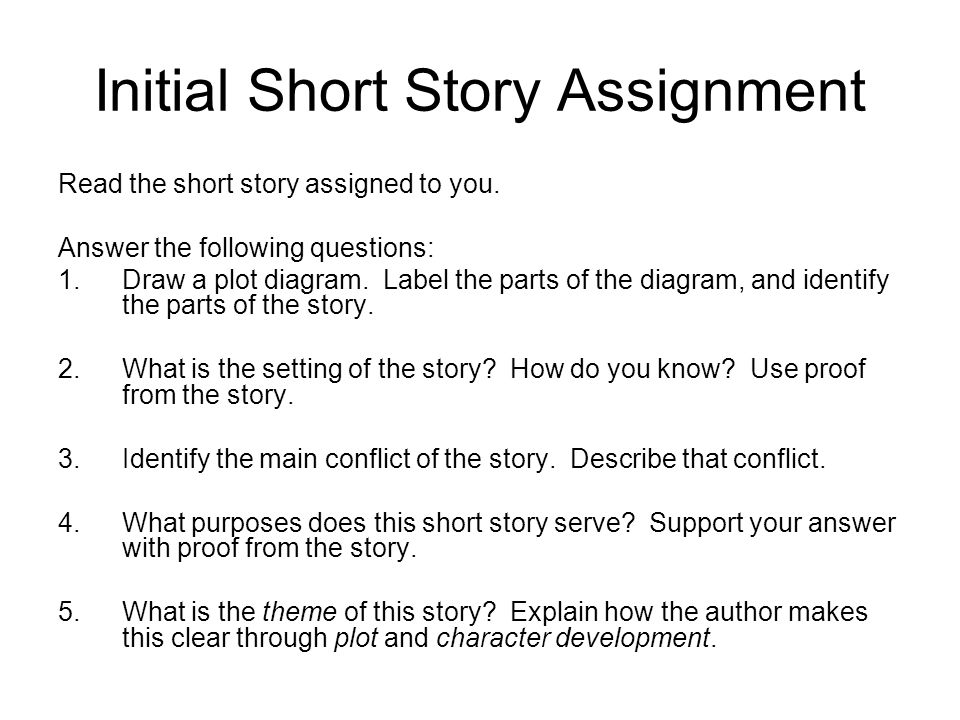 The short story ppt download initial short story assignment ccuart Choice Image