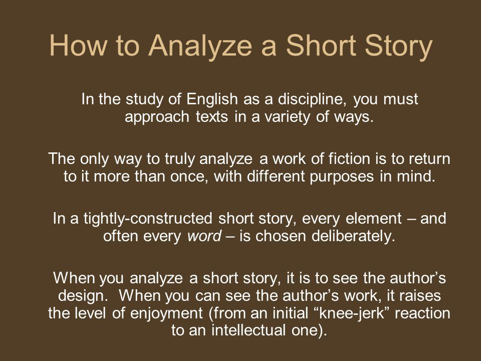 an analysis of the basic elements in a short story A literary analysis of the frye's analysis of the imagery and cyclical elements of story in short  times in order to reveal the parallels of the basic.