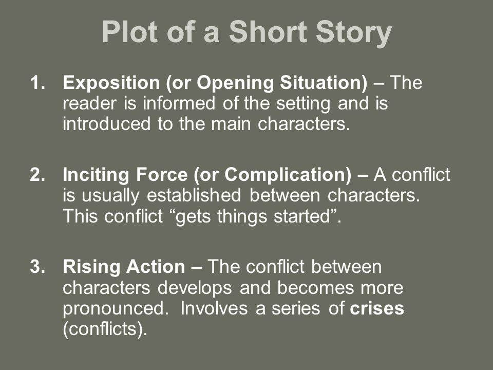 how to write an exposition for a short story