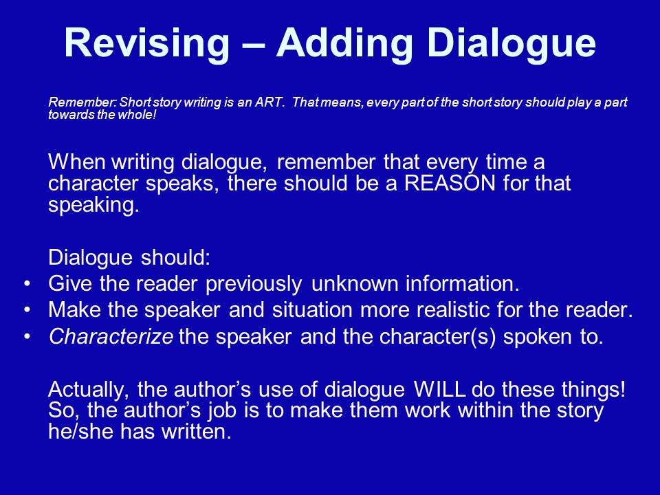 how to make a story without dialogue