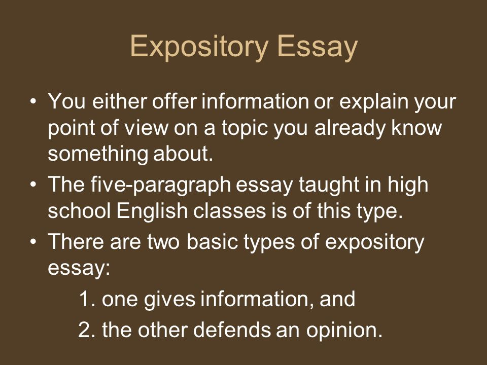 Model descriptive essays