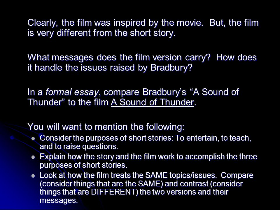 the short story ppt   a sound of thunder 86 you