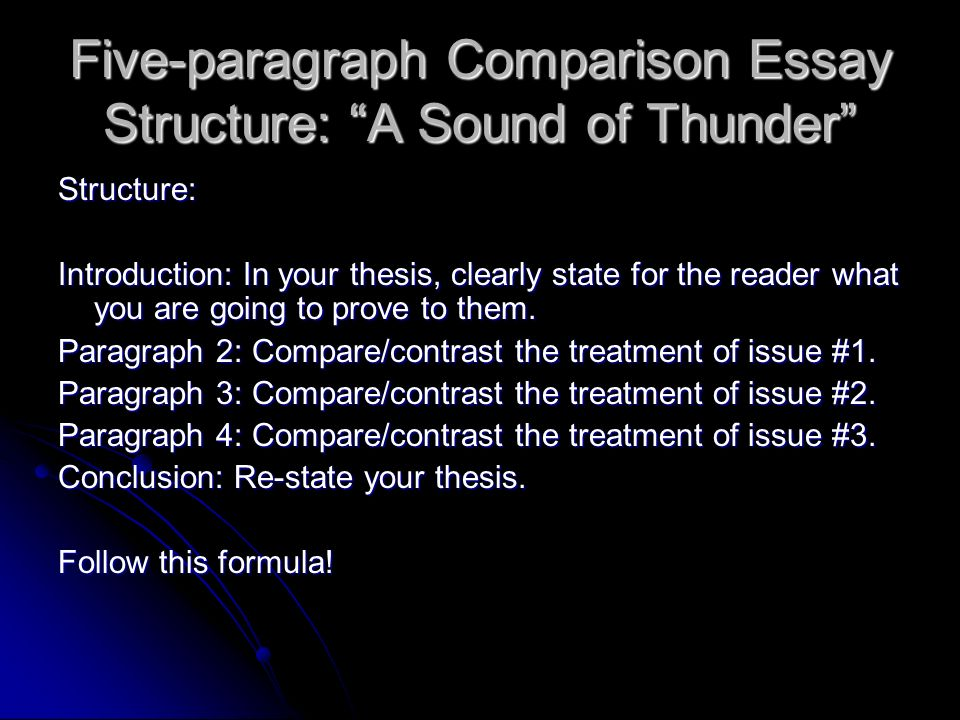 the short story ppt  five paragraph comparison essay structure a sound of thunder