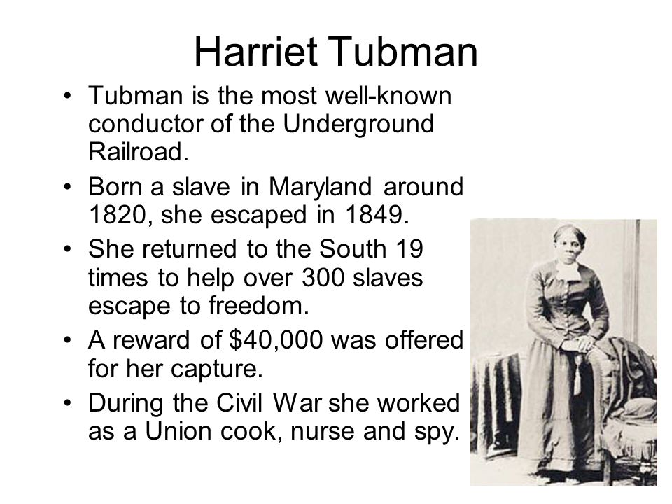 character analysis harriet tubman in the