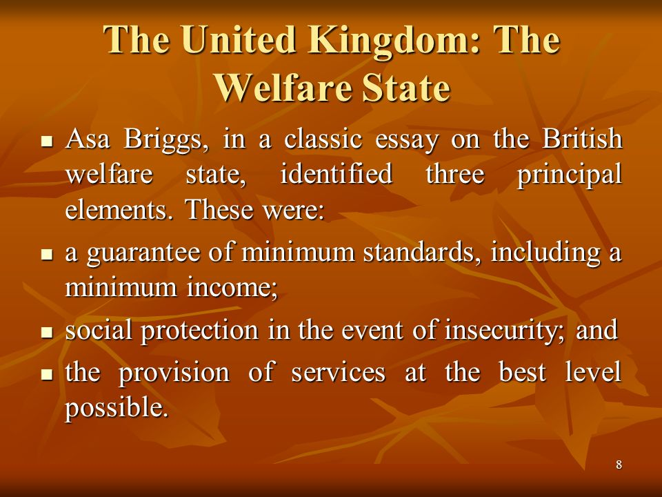 theoretical framework models of social policy ppt  the united kingdom the welfare state