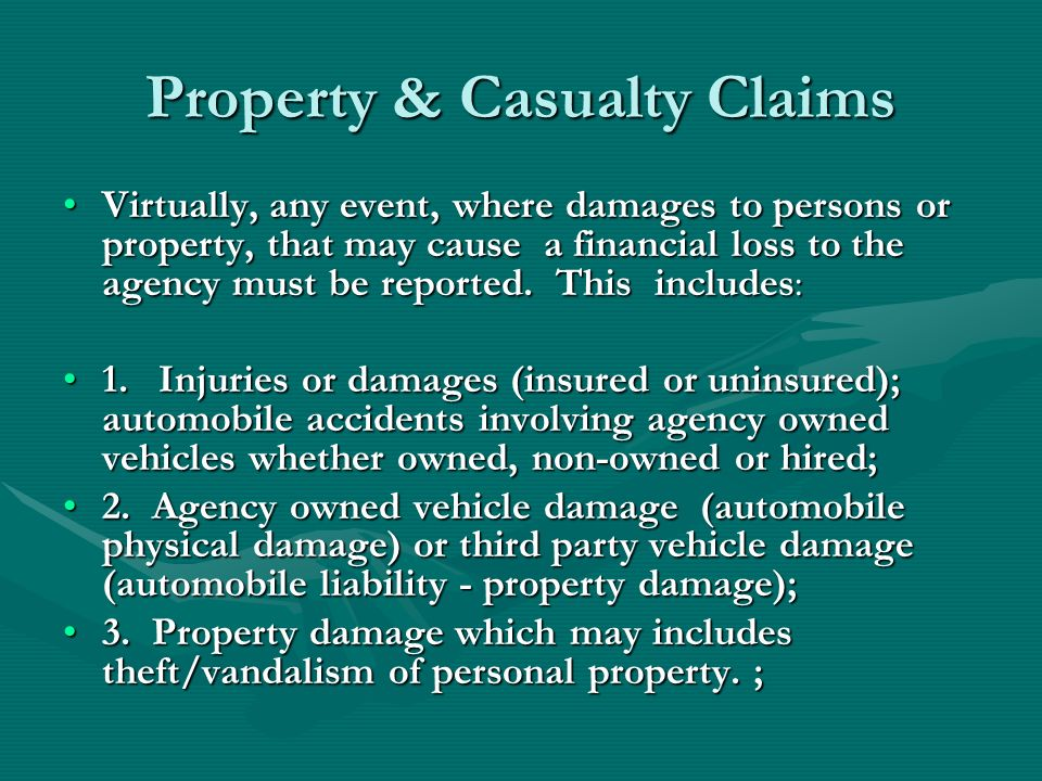 Property & Casualty Claims