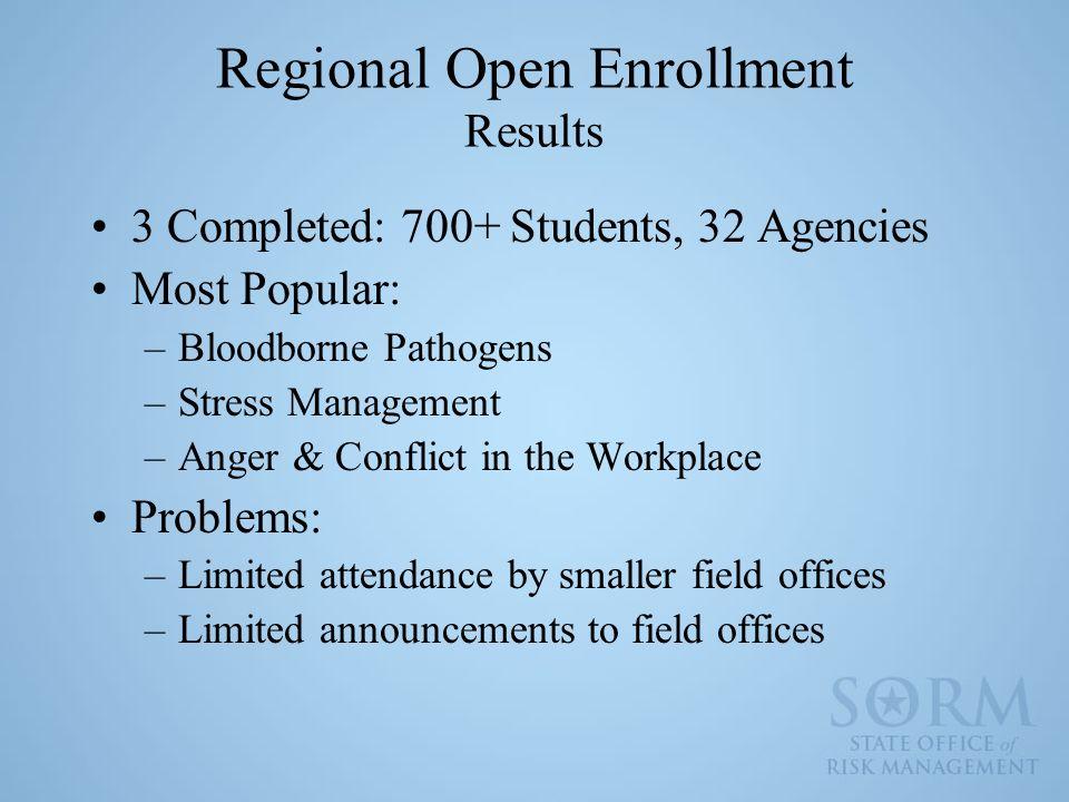 Regional Open Enrollment Results