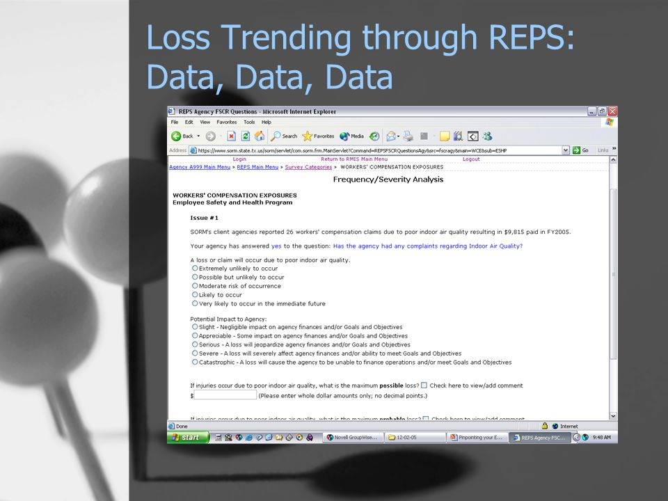 Loss Trending through REPS: Data, Data, Data