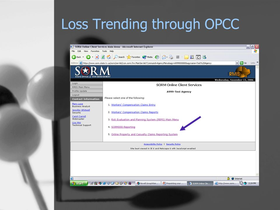 Loss Trending through OPCC