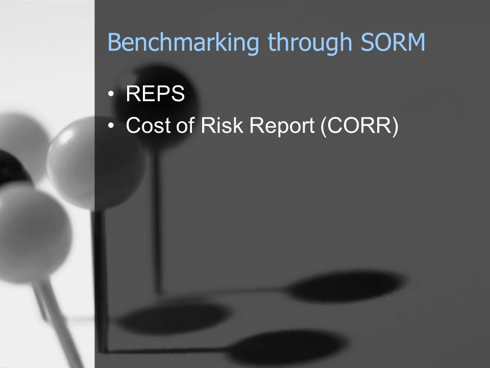 Benchmarking through SORM