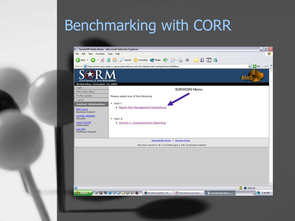 Benchmarking with CORR